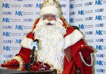 В Москве стали популярны Дед Морозы-дистрофики, символизурующие кризис
